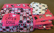 "Justice ""I Love Cats & Dogs� Twin Bedding Set ""Bed in a Bag"""