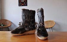 GETAS Damen WinterStiefel Fell Gr. 39 Schneestiefel yetiBoots UK 6 True Vintage