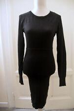 Abito nero stretch MANGO black stretch bodycon dress L