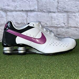 NIKE Shox Classic II Womens Size 7 Purple Leather Running Sneakers 343907-151 W2