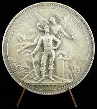 Médaille sc Dubois dévouement et courage dedication & courage bronze 50mm Medal