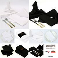 12 Pack Napkins 45 cm x 45 cm Table Linen Dinner Cloth Poly Cotton Hotel Wedding