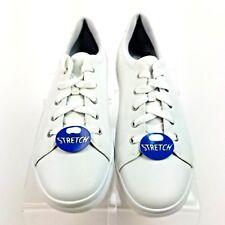 1445aa13 Keds Blanco Puro Cuero Tenis Zapatos Elastizado Fit para mujer Talla 7.5  Con Cordones