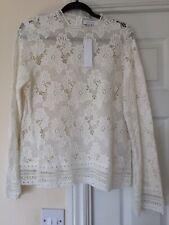 BNWT TOPSHOP Lace Cotton Long Sleeve Top Size L