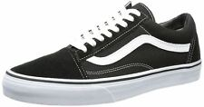 Vans Old Skool Black White Canvas Leather Unisex Trainers Shoes