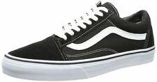 Vans Old Skool Negro Blanco Lona Cuero Unisex Zapatillas Zapatos