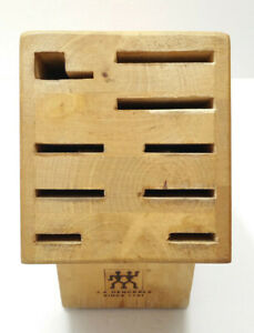 Zwilling J. A. Henckels 10 Slot Wooden Solid Wood Knife Block Stand Storage 922