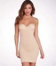Maidenform Latte Firm Control Convertible Slip, Size US 34B