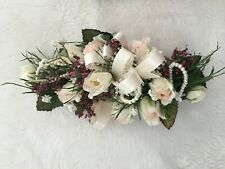 PINK WRIST Bouquet Artificial Flower CORSAGE Large Hand Made Bridal WEDDING PROM