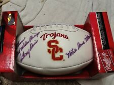 Anthony Davis Hand Signed Football USC Trojans Notre Dame Killer