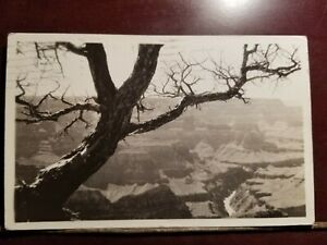MATT'S STAMPS Vintage Black and White Postcard Showing The Grand Canyon 1935