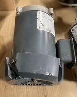 GE 3/4 HP Motor 3 Phase 60HZ 3450 RPM Cracked Fan Shroud 5K36MN342