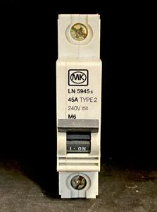 MK LN 5945s 45A MCB TYPE 2 M6 BS3871