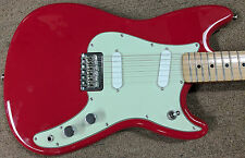 "Fender Duo-Sonic Electric Guitar, Torino Red, Maple, Alder, 24"" Scale, 2 Singles"