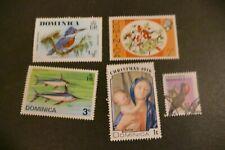 5 Dominica postage stamps philately postal  Philatelic Caribbean