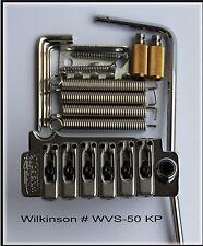 Wilkinson WVS 50 II K for Strat guitar tremolo with zinc saddles.