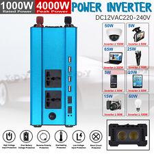 4000W Solar Power Inverter 12 DC to 220V AC Modified Sine Wave Converter Blue