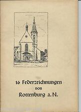 16 Federzeichnungen von Rottenburg a. Neckar