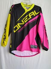 ONEAL racing Womens ladies motocross jersey EXTRA LARGE 0024-715 blk/pnk