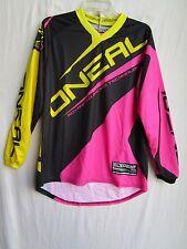 ONEAL racing Womens ladies motocross jersey SMALL 0024-712 blk/pnk