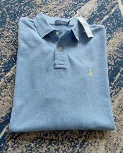 "Polo Ralph Lauren XL Long Sleeve Collared Top Mens Blue P2P26"""