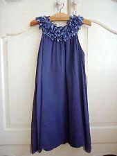 Tartin et Chocolat girls  chifon style lavender sleeveless party dress 8Y