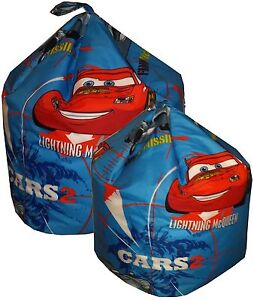 Disney Cars Beanbag, Character Bean bag (Kids Childrens Toddler)