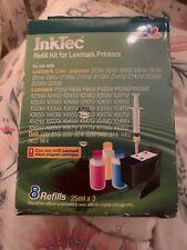 Inktec Colour  Refill Kit for Lexmark Printers Colour Cartridges