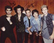 One Direction 8x10 autographed photo RP