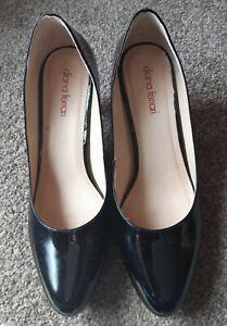 Ladies Diana Ferrari Black  Pumps, Size 41/Aus 10 more a 9. 5Patent leather, EUC