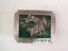Revolvers Belt Buckle f/s Usa Vgc Bergamot Brass Works Smith & Wesson