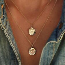 Fashion Women Multilayer Gold Chain Choker Coin Necklace Star Moon Jewelry