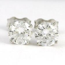 10k White Gold Cubic 4 Claw Stud Earrings (new, 1.g) #3541