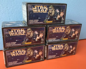 1996 Panini Star Wars - BOX WITH 100 PACKS,BAGS,BUSTINE(600 STICKERS)