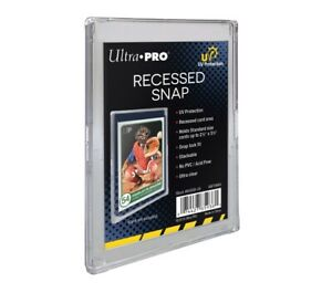 ULTRA-PRO UV PROTECTED RECCESSED SNAP CARD HOLDER FOR REGULAR SIZED SPORTS CARDS