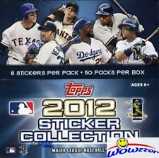 2012 Topps MLB Baseball Stickers FACTORY SEALED HUGE 50 Pack Box-HOT! Rare !!