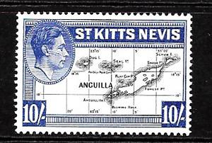 St.Kitts .. 1948 .. 10/- Mint(MNH) Postage Stamp .. S.G. No. 77e .. 6943