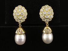 Exklusive Südsee Perlen Brillant Ohr Stecker ca. 2,40ct C´est Laudier 750/- GG