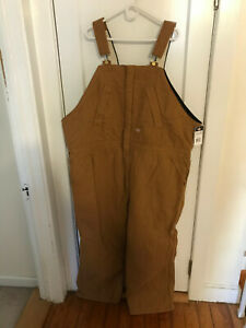 BRAND NEW! Dickies Insulated Bib Overalls Brown Duck 4X 4XL Regular With Tags
