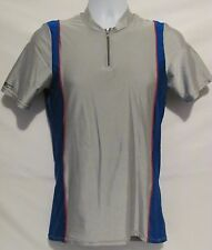 Cycling Wear Performance Mens Large L Shirt Made USA Silver Gray Blue Red