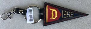 """Disneyland """"1955"""" Pennant Keychain - New With Tags"""