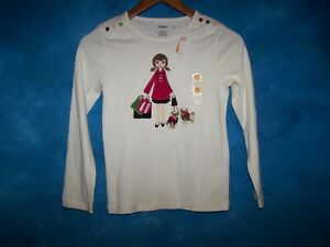 NWT Gymboree Long Sleeve Top Size 9 Years Pugs & Kisses