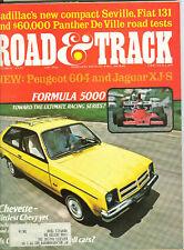 Road & Track Oct 1975 - Chevette - Fiat 131 - Cadillac Seville - Peugeot 604