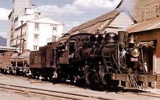 NdeM narrow gauge steam locomotive train railroad postcard  Mexico