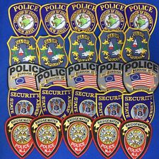 Police Collectors Trading Patches Mixed lot 25 Shoulder Patches 5 Departments