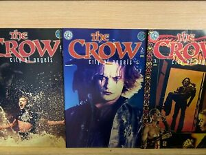 THE CROW, City of Angels #1-3, Kitchen Sink Comics NM *VARIANT COVERS*