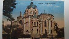 "Szolnok Judaica Rare Old Postcard Jewish Synagogue 1910"" Hungary Rare Israel"