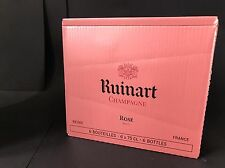 6x Ruinart Champagne Rose Champagner Flasche 0,75l 12% Vol Kiste