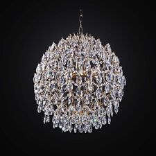 LAMPADARIO IN CRISTALLO CLASSICO ORO A 8 LUCI COLL. BGA 2407/S8 DESIGN SWAROVSKY