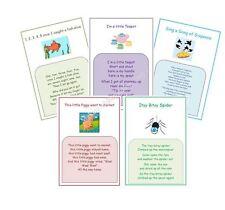 NURSERY RHYME wall display posters, childminder, nursery resource Pack 2